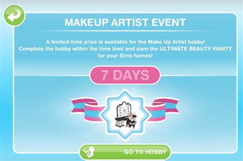Sims Freeplay Second Floor Mall Quest by Sims Freeplay Make Up Artist Hobby Glitz And Glam