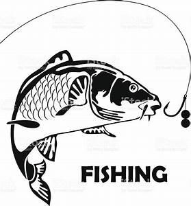 Carp Fish  Sport Fishing  Vector Illustration