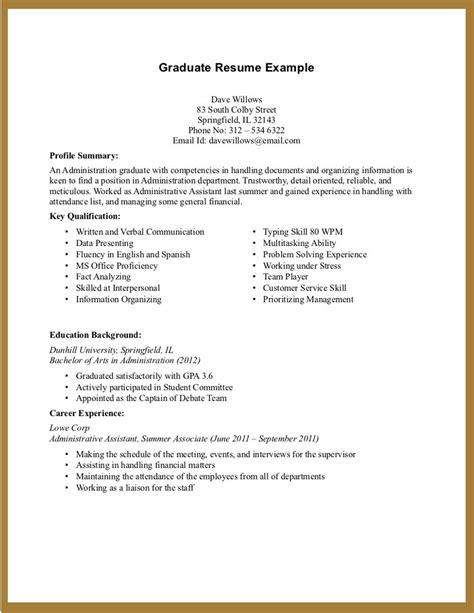 college student resume exles experience