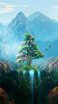 Spring Autumn Colorful Nature Magical Forest   Mobile ...