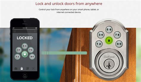 use your smartphone to unlock your front door from any spot on the planet