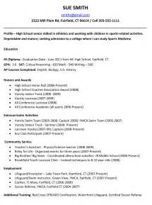 college resume sle template exle resume for high students for college applications resume