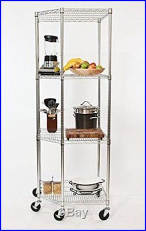 chrome kitchen storage racks 4 tier wire shelf chrome metal rolling rack storage 5421