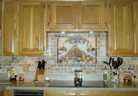 Italian Kitchen Tile Murals & Backsplash Ideas Kitchen Cabinets Boston Installing Yourself Under Cabinet Light Doors Only Price Best Material For Contemporary Hardware Pulls Color Ideas With Cherry Oak Pantry