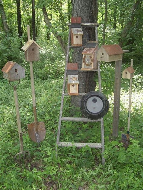 Primitive Outdoor Decor Birdhouse Garden
