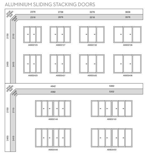 aluminium sliding stacker doors wideline windows doors