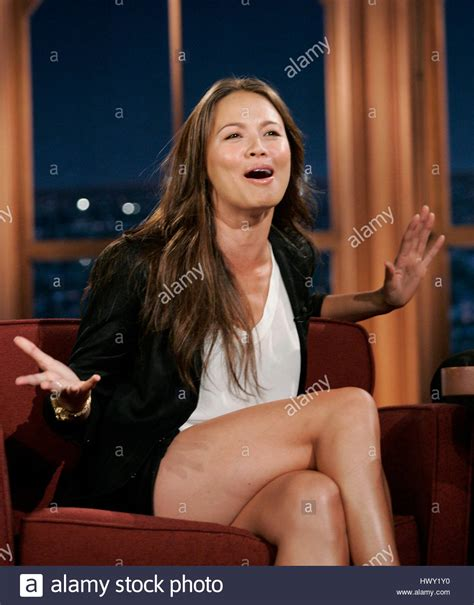 Actress Moon Bloodgood during a segment of 'The Late Late Show with Stock Photo - Alamy
