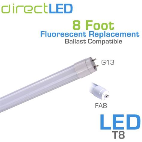 8 foot t8 t12 led light replaces f96t12 f96t8