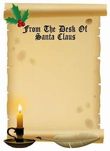 Free printable letter for santa new calendar template site for Scroll letter from santa