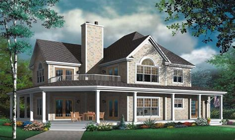story house plans  wrap  porch  story