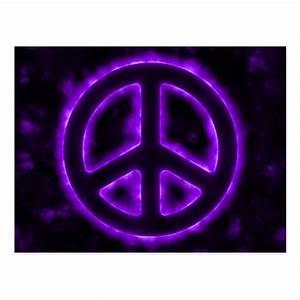 Purple Peace Sign Post Cards | Zazzle