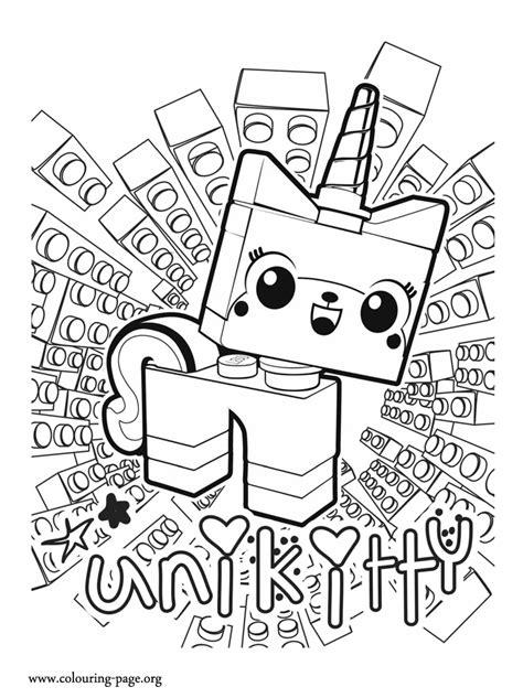 lego  unikitty  unicorn kitten coloring page