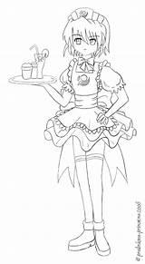 Waitress Lineart Princezna Deviantart Stats sketch template