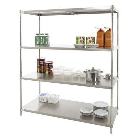 guh stainless steel kitchen storage stainless steel solid kitchen shelving racking com from