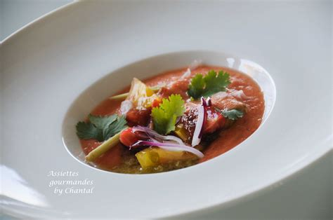 recette de cuisine gastronomique de grand chef gaspacho recette de william ledeuil