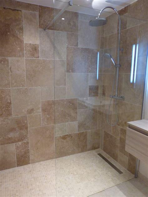 carrelage salle de bain travertin carrelage travertin salle de bain galerie avec ranovation dune salle de bains wc en images