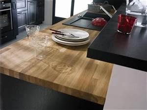 Plan De Travail Salle De Bain Lapeyre : plan de travail bois infos et prix d un plan de travail en bois ~ Farleysfitness.com Idées de Décoration