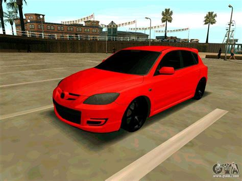 Mazda 3 Red For Gta San Andreas