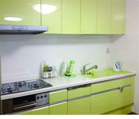 the green kitchen company 施工事例 キッチンリフォーム リクシル リシェル 爽やかなグリーンのキッチン 神戸市兵庫区のキッチンリフォームは 8459