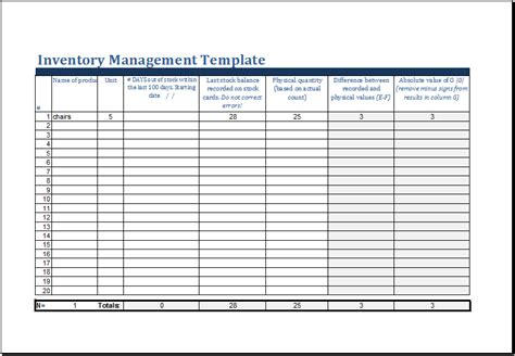 inventory control spreadsheet template ms excel printable inventory management template excel