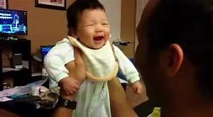 Baby LOL's For The First Time...Dads Reaction Is Priceless ...