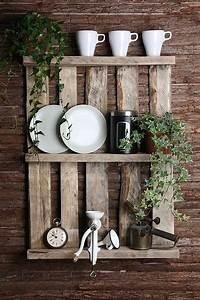 Deko Für Küchenwand : palettenregal im shabby style pallet shelf shaby look by paletto via ideen ~ Sanjose-hotels-ca.com Haus und Dekorationen