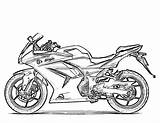 Coloring Motorcycle Pages Printable Sheets Boys Bikes Adult sketch template