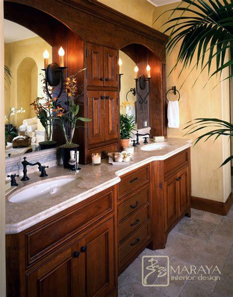 Santa Barbara Style Bath  Mediterranean Bathroom