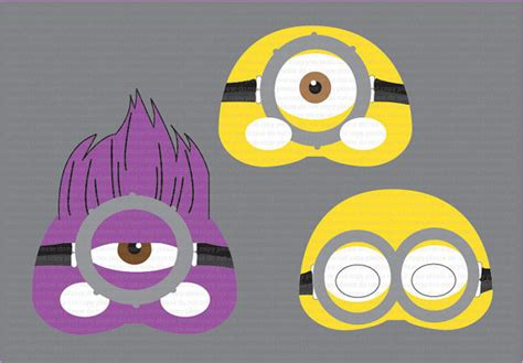 Minion Mask Template by The Gallery For Gt Purple Minion Printables