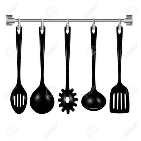 pictogramme cuisine kitchen tools clipart black and white clipartxtras