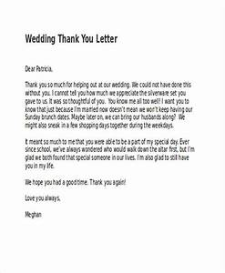 69 thank you letter examples With wedding thank you letter