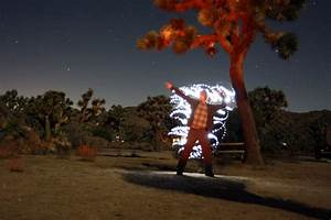 Light Painting In Joshua Tree National Park