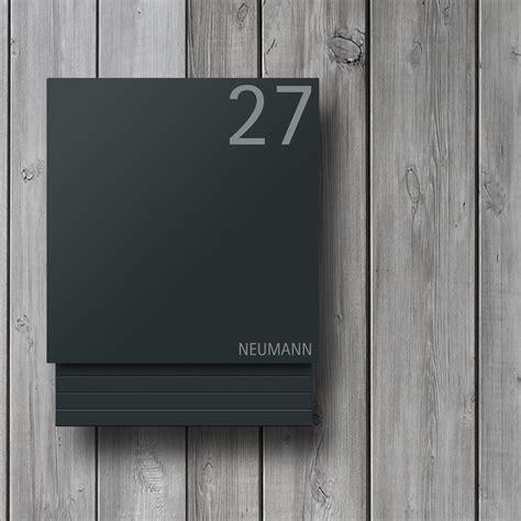 Briefkasten Modern Design by Moderner Design Briefkasten Anthrazit Mit Beschriftung