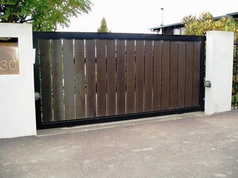 single swing contemporary driveway gates    home