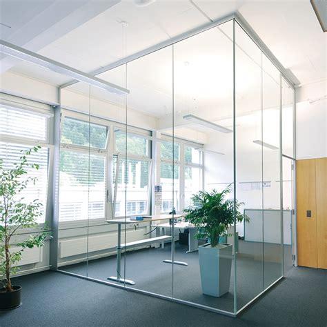 separation de bureau en verre système de cloisons de séparation en verre