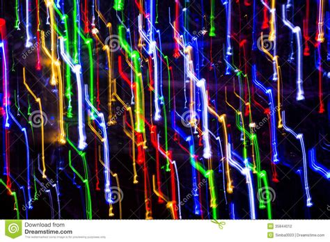 color in motion various color light lines in motion stock illustration