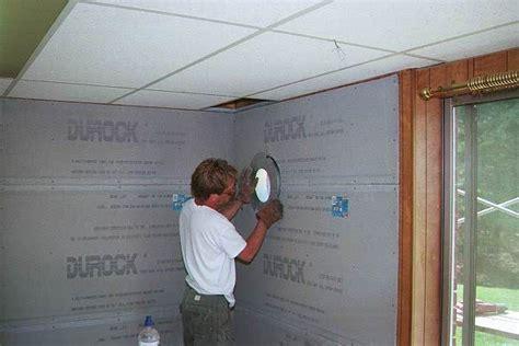 woodstove install  basement  wall thimble install