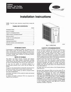 Carrier Infinity Thermostat Operating Manual