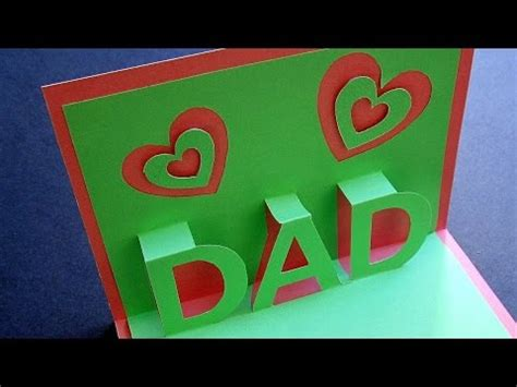 fathers day pop  card learn     popup card