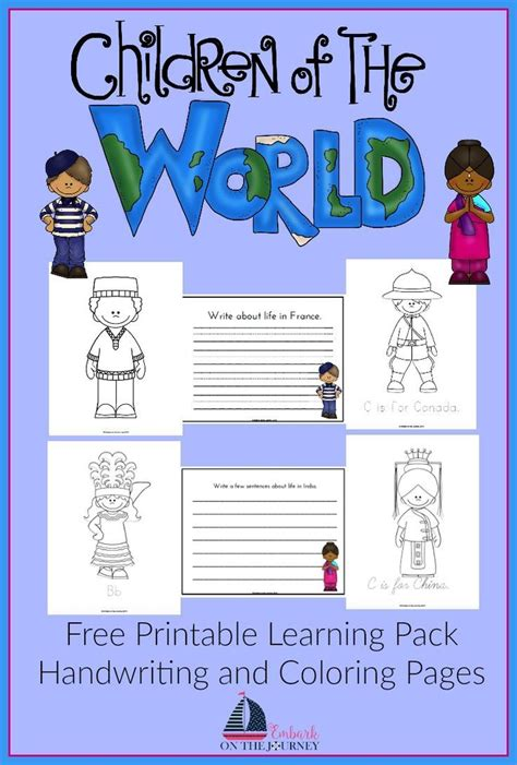 children around the world writing pack preschool