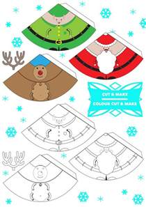 free printable 3d christmas characters finger puppets tree decorations how will you use yours