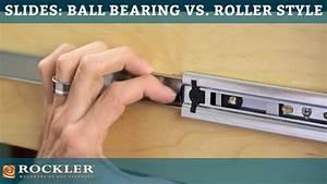 Drawer Slide Tutorial: Ball Bearing vs Roller Style - YouTube