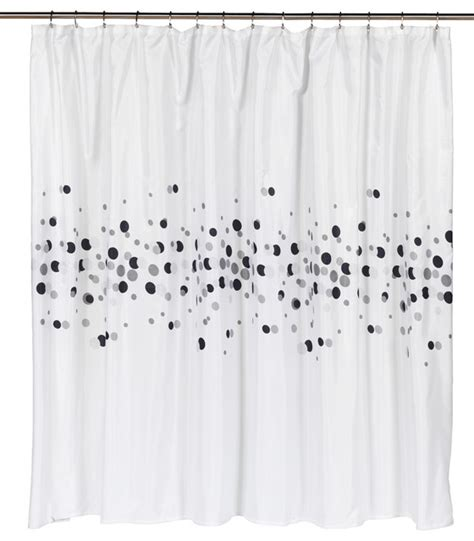 wide quot dots quot fabric shower curtain contemporary