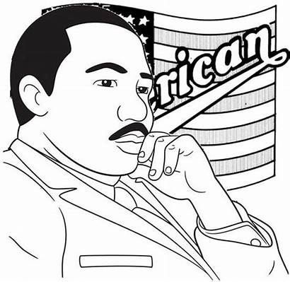 Luther Martin King Coloring Jr Biography Pages