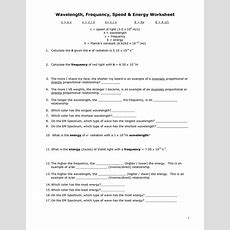 13 Best Images Of Light Worksheets For Middle School  Waves And Electromagnetic Spectrum