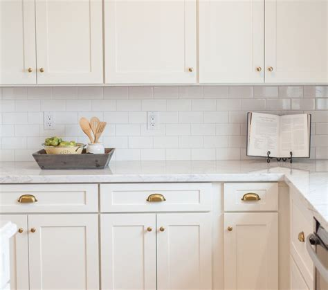 decorative kitchen tiles white subway tile white cabinets marble counter and 3128