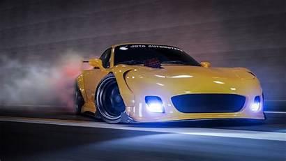 Rx7 Mazda 4k Drifting Yellow Cars Wallpapers