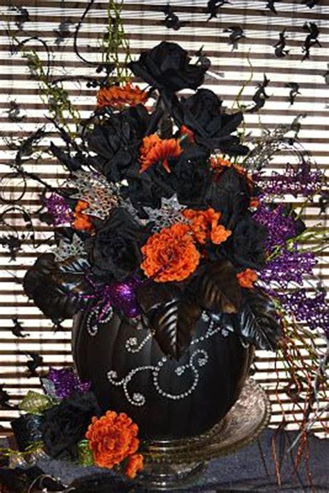 halloween floral arrangements images  pinterest