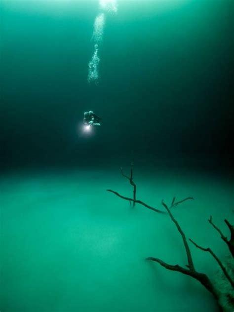british diver finds bizarre underwater lake hidden