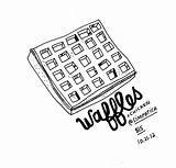 Waffle Waffles Illustration Illustrations Drawing Pancakes Getdrawings sketch template